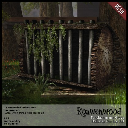 Tangleshimmer Grove Hollowed Out Log Jail
