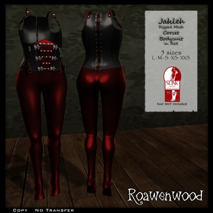 Jahleh Corset Bodysuit SLink High Red