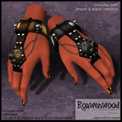 Demonian Spiked Gloves