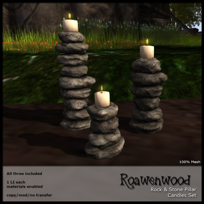 Rock & Stone Pillar Candles
