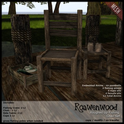 Roughed Up Fishing Chair Set