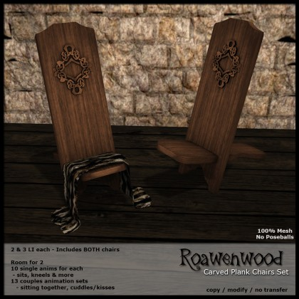 Carved Plank Chairs