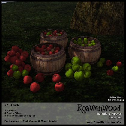 Barrels o' Apples Deco Set
