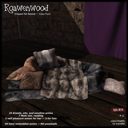 Draped Pet Bed - Cozy Furs