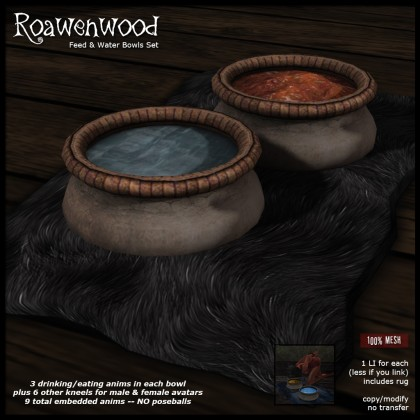 Mesh Feed & Water Bowls Set