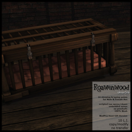 Roawenwood Utica Crib - Hunt Version - Gold Prize