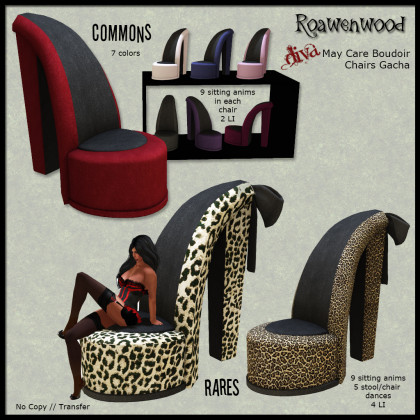 Roawenwood Diva May Care Shoe Chair Gacha
