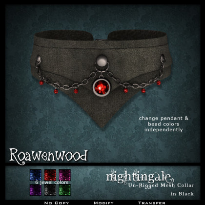 Nightingale Collar - Black NC