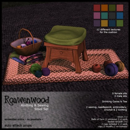 Knitting and Sewing Stool Set TXT